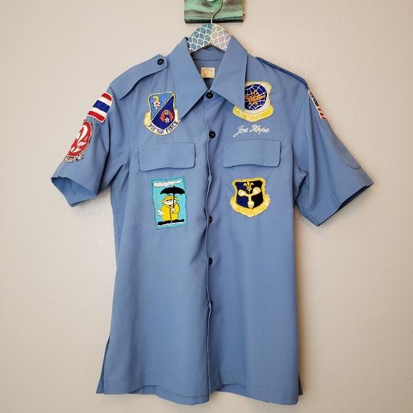 1056ddc34d853 Vintage USAF Motor Pool Button Down Shirt Size M